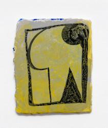 """'Manet blanks' 2014, ink, gouache, plaster, fiberglass mesh, plywood, 10 x 12"""""""