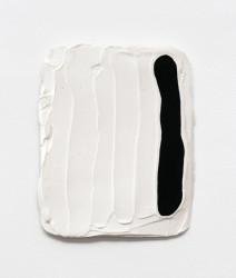"Bob, Gouache, hydrocal, fiberglass mesh, plywood, 8 x 10"", 2013"