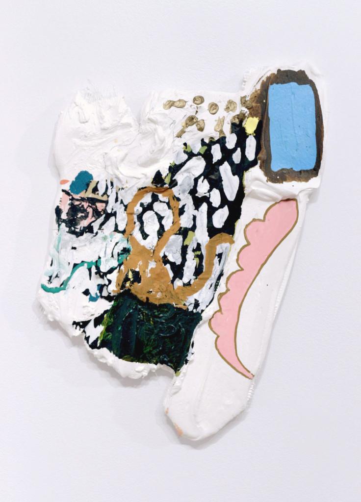 "Dodo, Gouache, ink, hydrocal, fiberglass mesh, plywood, 10 x 12"" (approx) 2014"