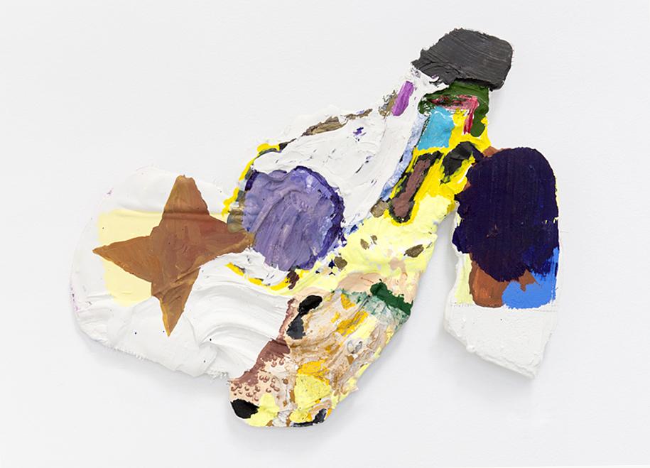 La Mutz, 2014, Watercolour, gouache, No More Gaps, plaster, fibreglass mesh, plywood 17 x 15