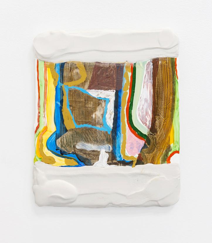 Stoops, 2014, Watercolor, gouache, plaster, fibreglass mesh, plywood 9.5 x 12